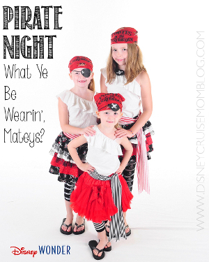 Need ideas for Pirate Night on your next Disney Cruise? Check out my blog to see what we do!