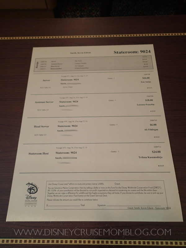 All About Tipping On A Disney Cruise Disney Cruise Mom Blog