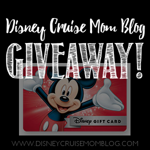 Disney Gift Card Giveaway Winner!