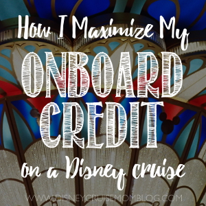 How I Maximize My Onboard Credit