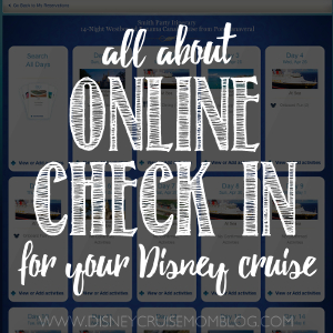 Disney cruise online check-in
