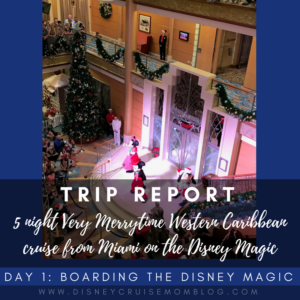 5 Night Very Merrytime Western Caribbean Cruise on the Disney Magic: Day 1