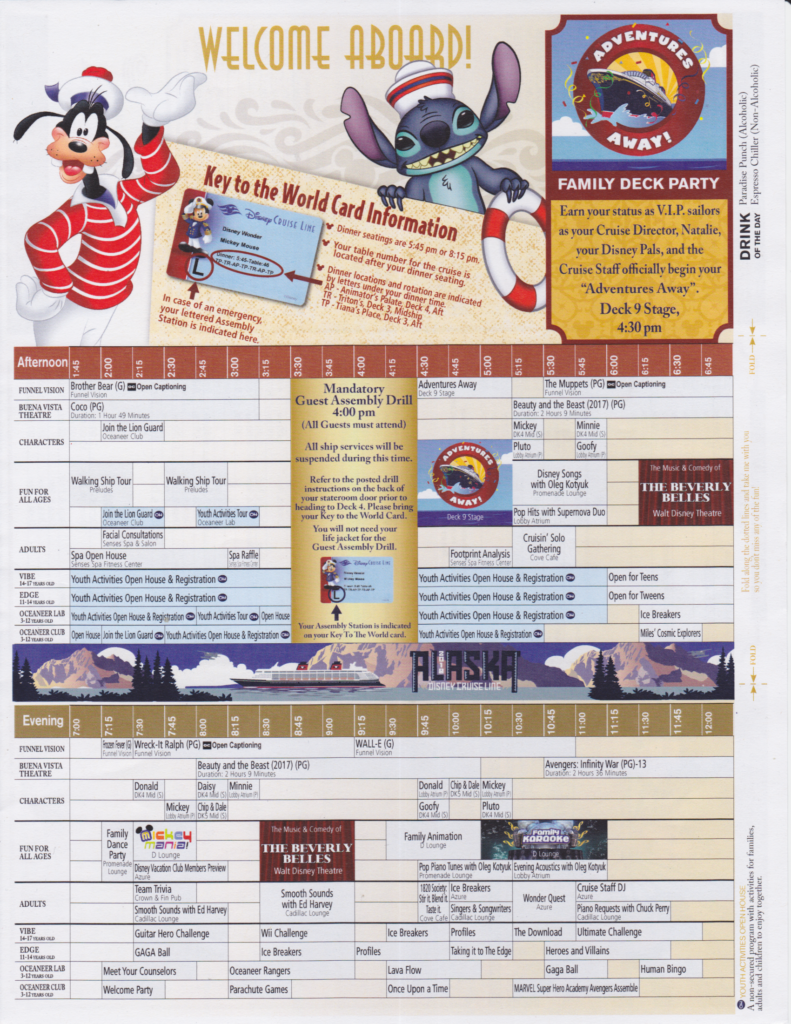 Daily Navigators May 21 2018 7 Night Alaska Cruise On The Disney Wonder Disney Cruise Mom Blog